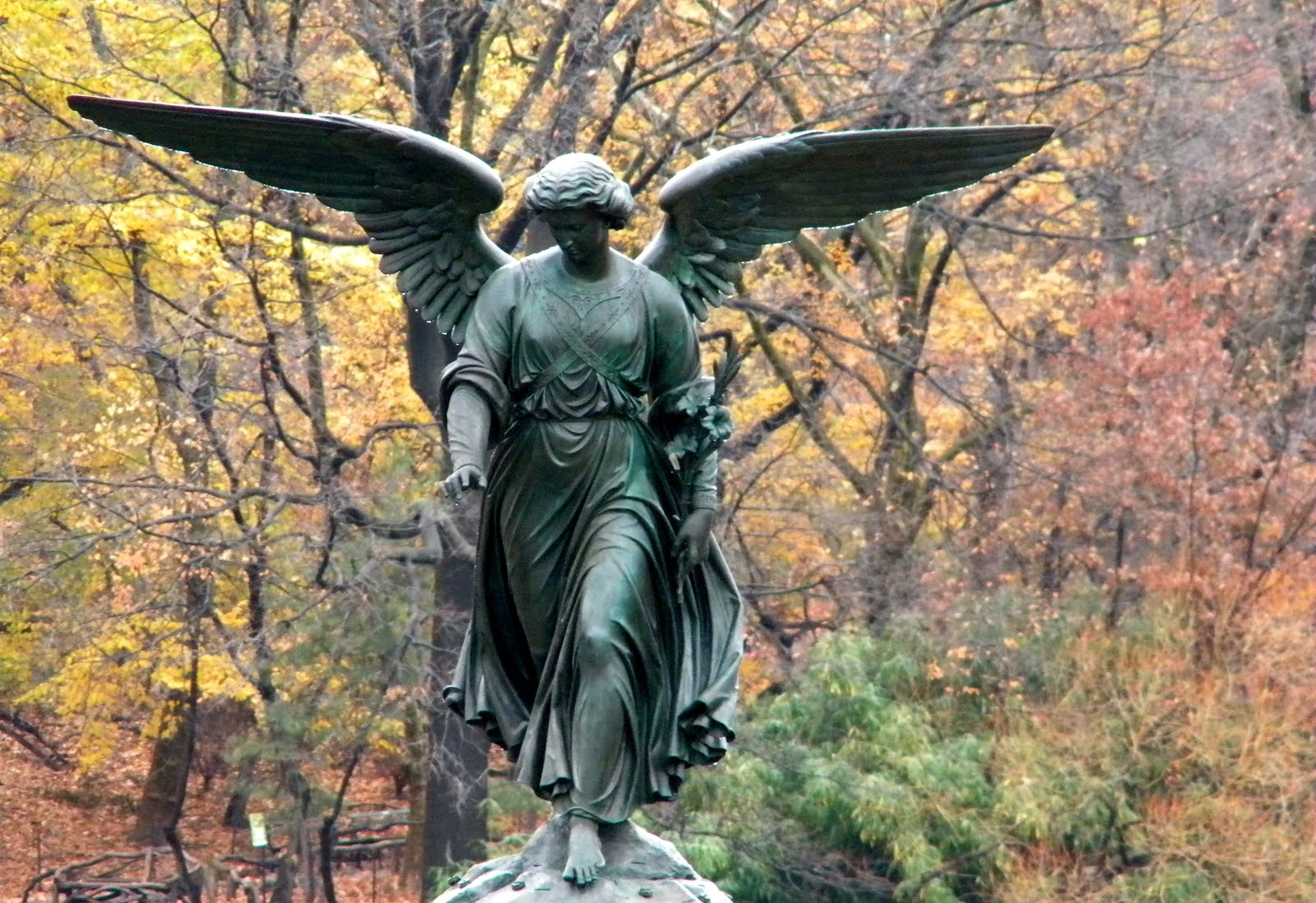 Bethesda Fountain Angel Central Park New York City