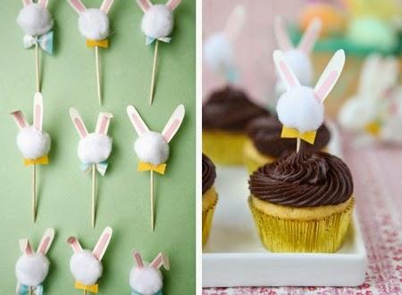 Cupcakes con Conejos de Pascua