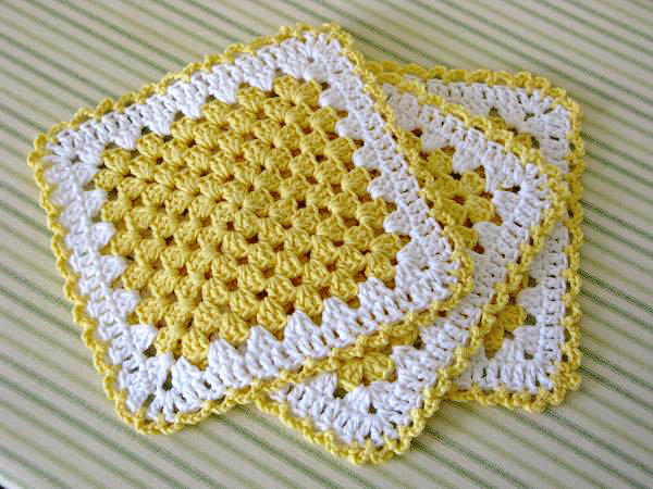 Crochet Granny Square Dishcloth Pattern : Miss Abigails Hope Chest: Granny Square Dishcloth - My ...