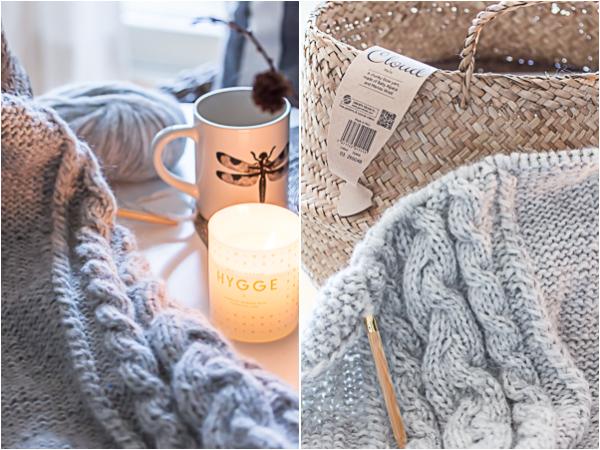 Amalie loves Denmark Strickdecke aus weicher Wolle von Drops Design