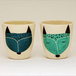 Ma Bicyclette - Buy Handmade - Ceramics - Marinski Handmades - Fox Cups