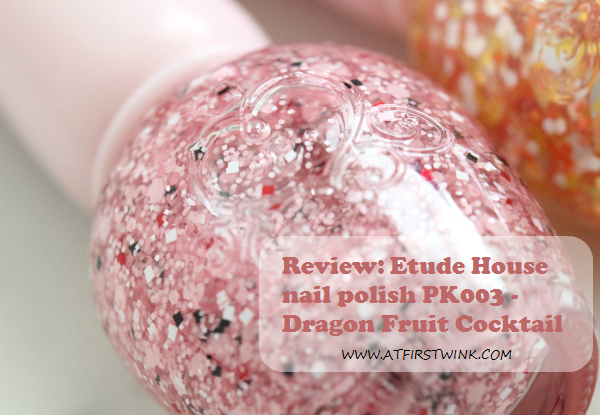 Review: Etude House nail polish PK003 - Dragon fruit cocktail