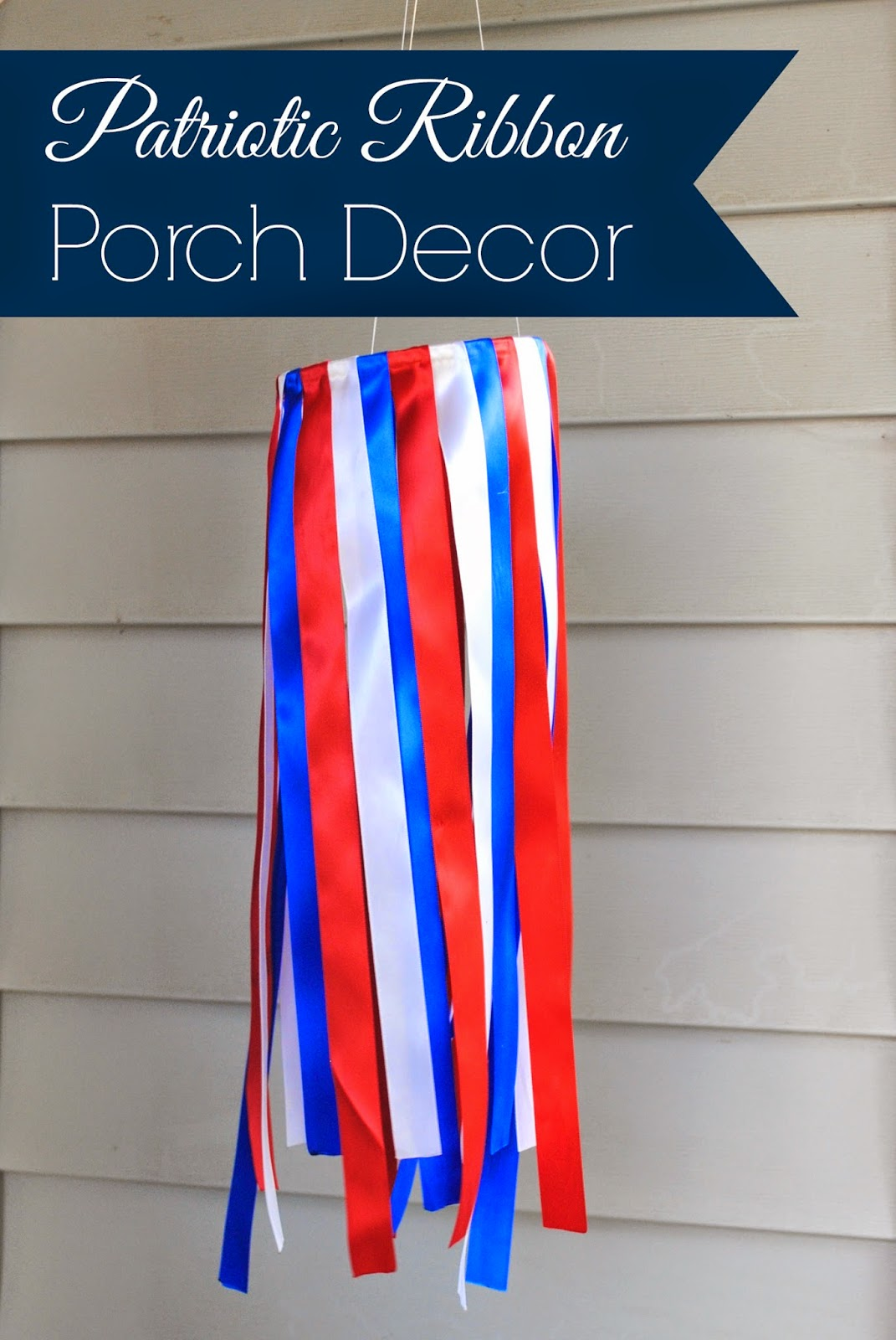 Patriotic Ribbon Porch Decor