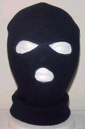 bank robber with mask