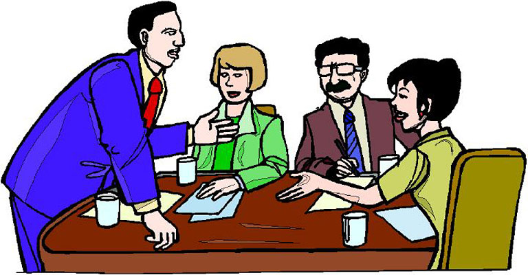 employee meeting clipart - photo #17