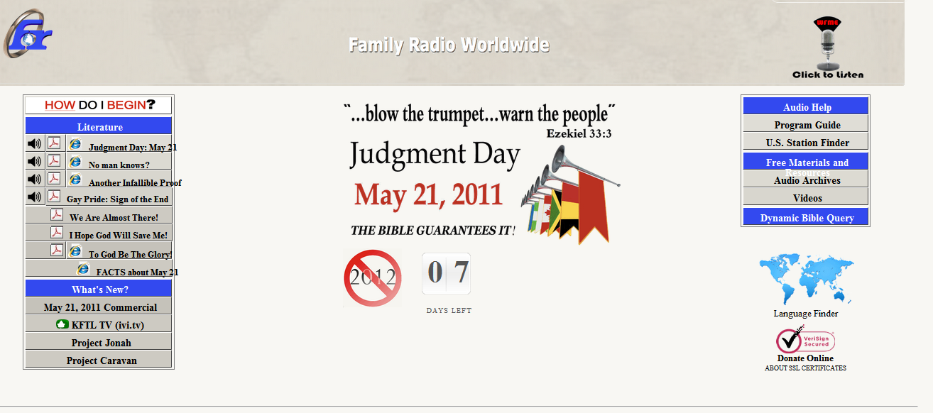 judgment day may 21. Judgment Day May 21, 2011