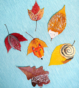 painted leaves design ideas