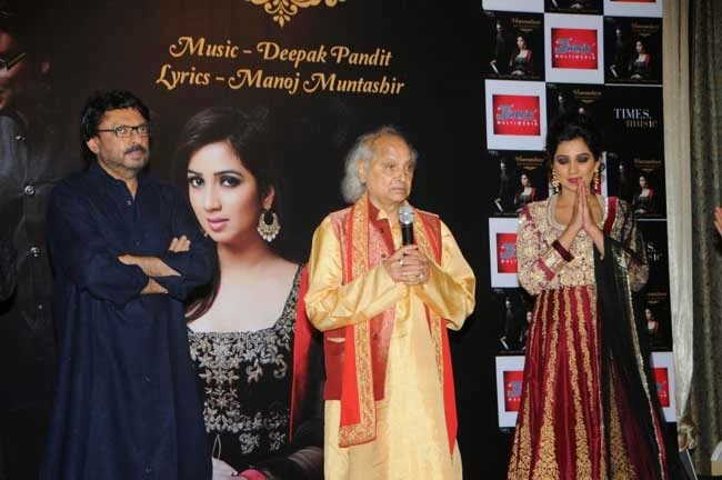 Shreya Ghoshal and Sanjay Leela Bhansali and Pandit Jasraj