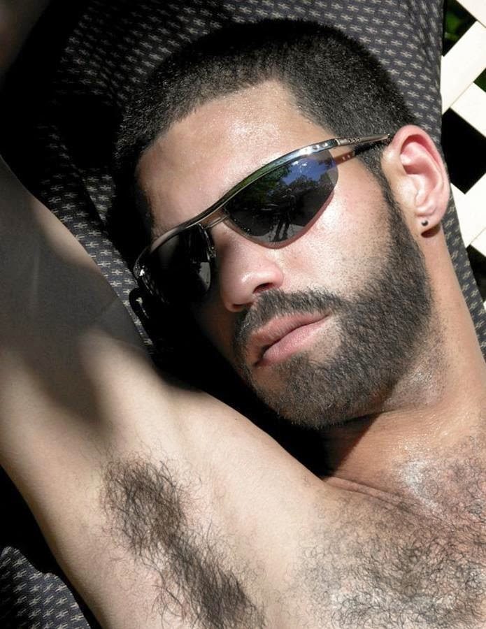 Hairy Man Sunbathing Hairy Armpits