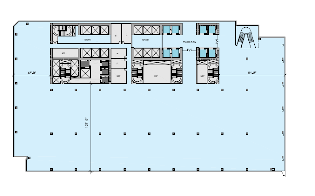 Picture of north tower lobby floor plan