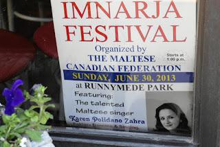 Toronto Maltese Festival Imnarja June 30, 2013, poster