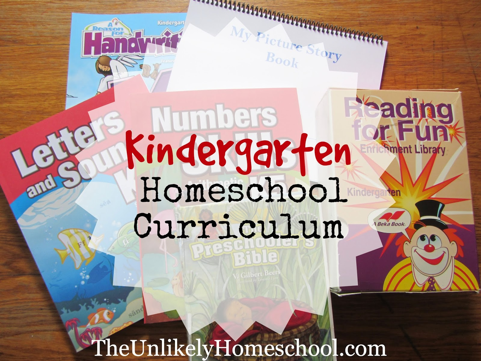 Kindergarten Homeschool Curriculum 2014-2015 {The Unlikely Homeschool}