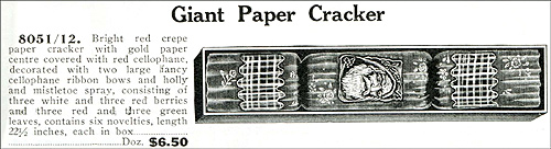 Giant Paper Christmas cracker from Nerlich Catalogue 1939