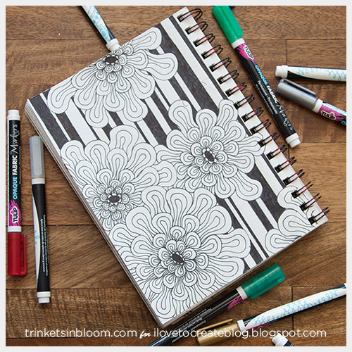 Sketchbook Cover Ideas : Ilovetocreate doodled journal covers