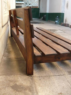 Madera arte muebles rusticos por miguel ruiz juegos de - Sillon madera exterior ...