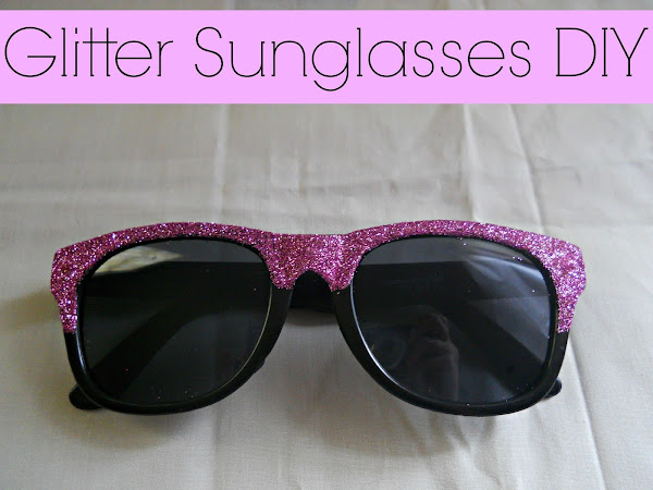 Glitter Sunglasses DIY