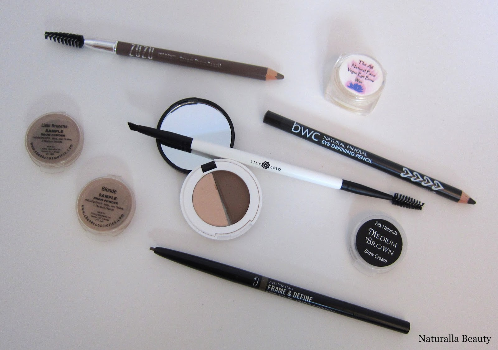 Naturalla Beauty All About Brows Zuzu Luxe Lily Lolo Bare