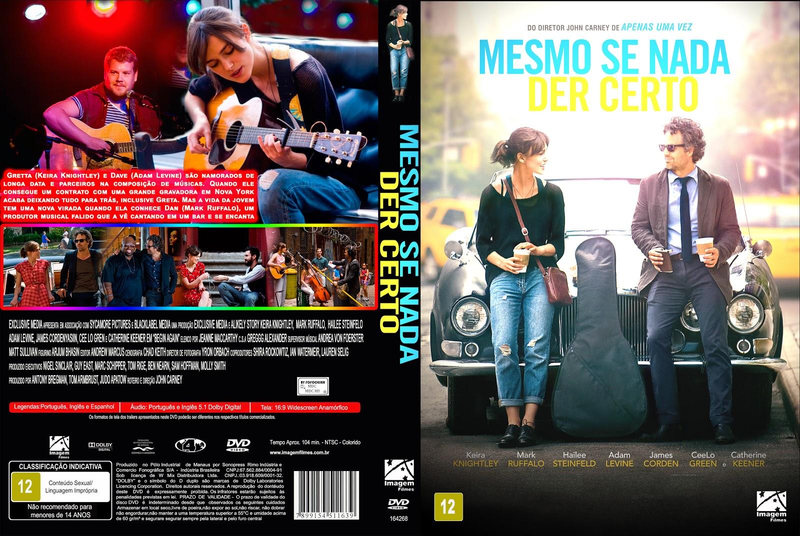 Capa DVD Mesmo Se Nada Der Certo
