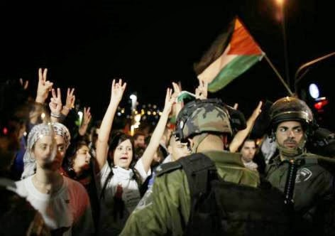 Manifestação contra a expulsão dos beduinos do Negev