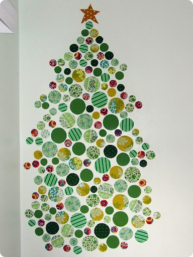 Stitcharooney: 2D Christmas wall trees
