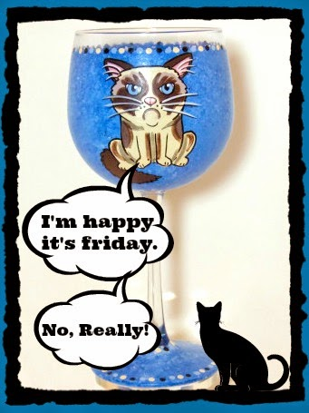 Grumpy Cat Painted Wine Glass via kudoskitchenbyrenee.com