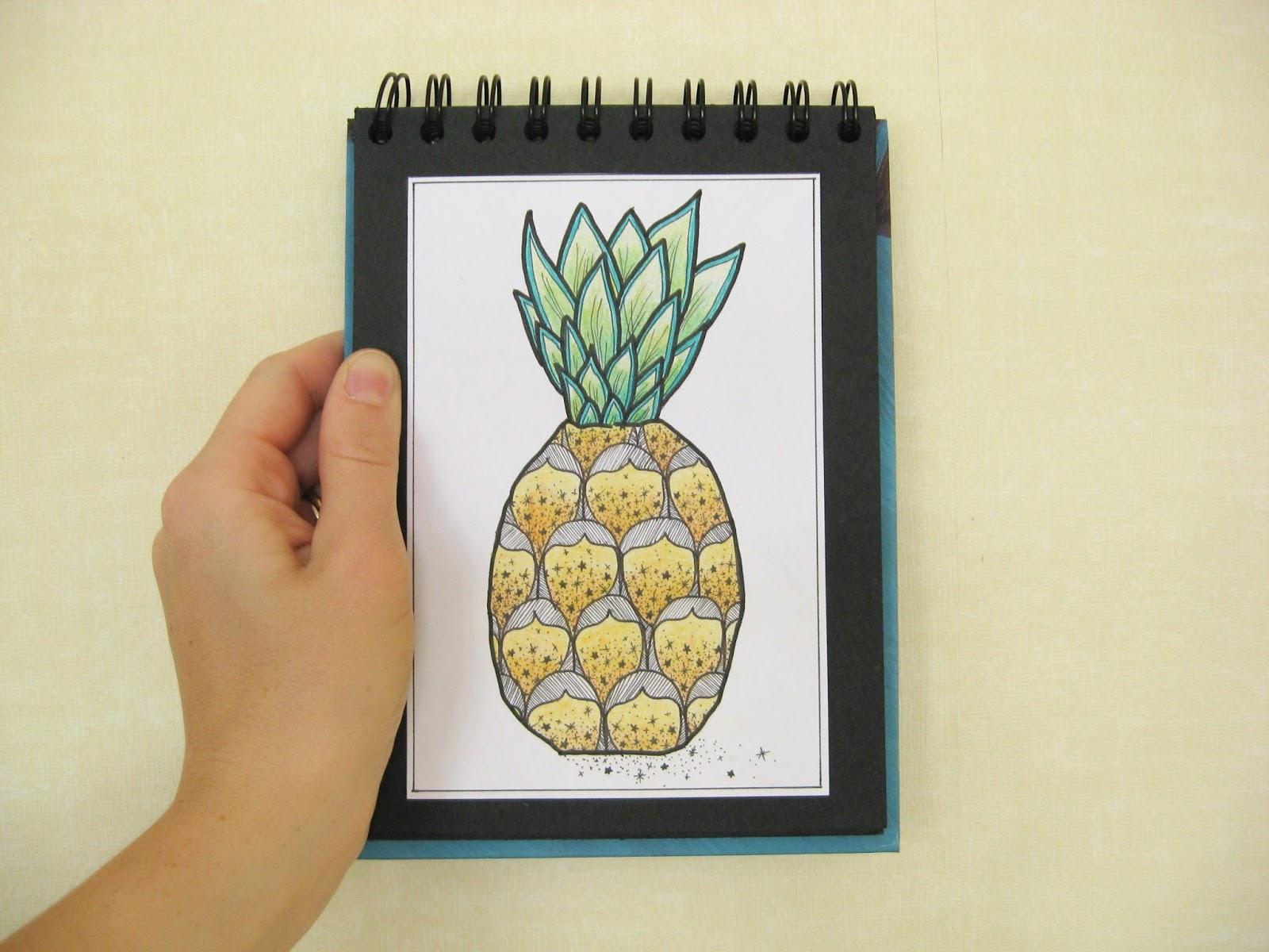carnet ananas pineapple