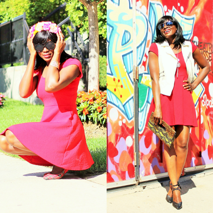 LITTLE RED DRESS: SUMMER TO PRE-FALL LOOK