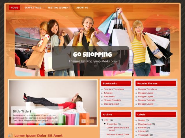 Go Shopping Blogger Template
