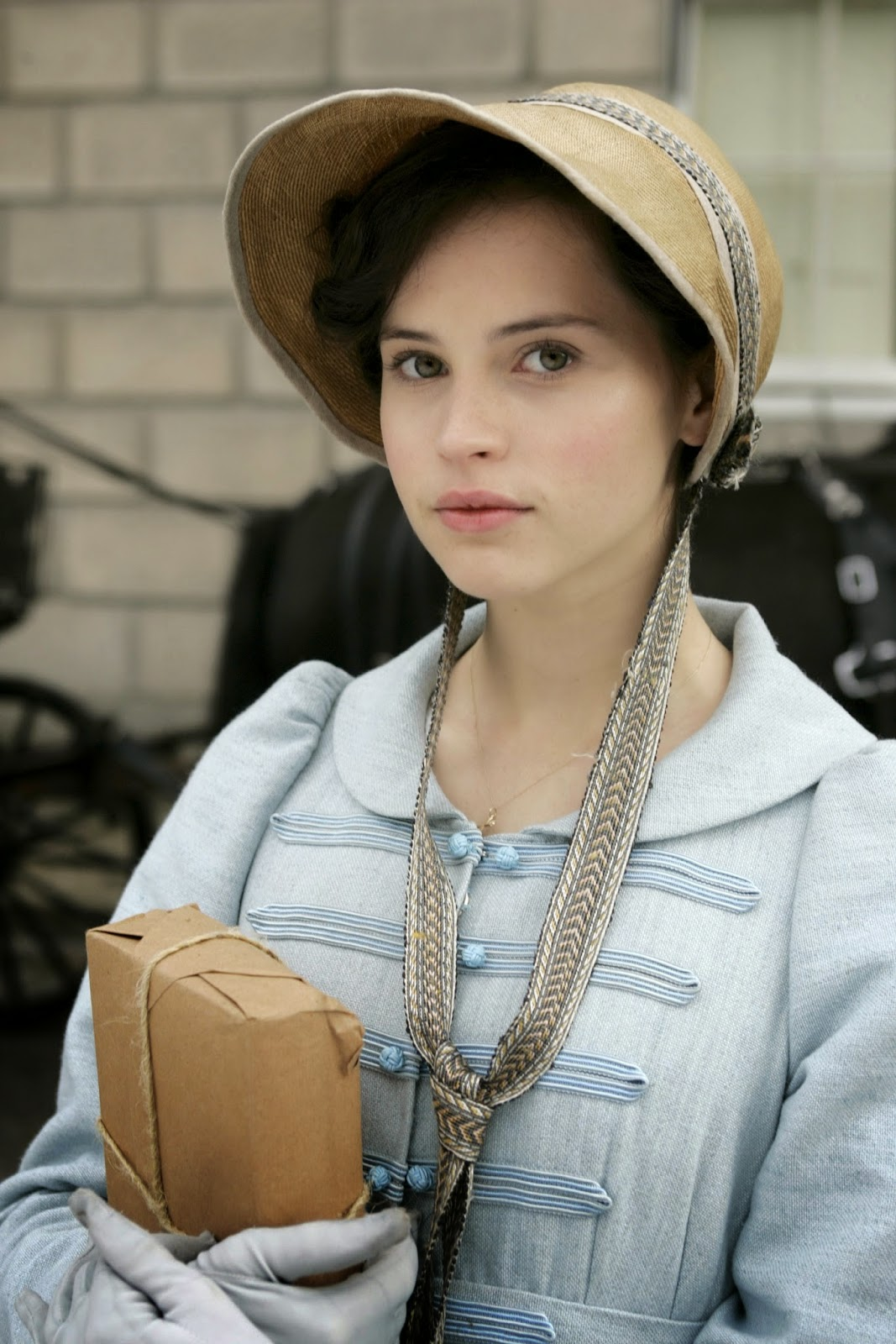 Felicity Jones as Catherine Morland from Northanger Abbey 2007