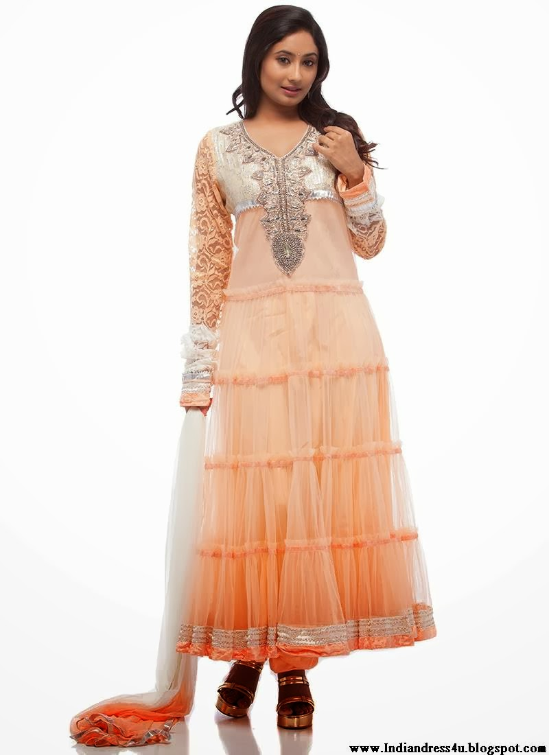 Indian Wedding Anarkali Beautiful Indian Dress 2014