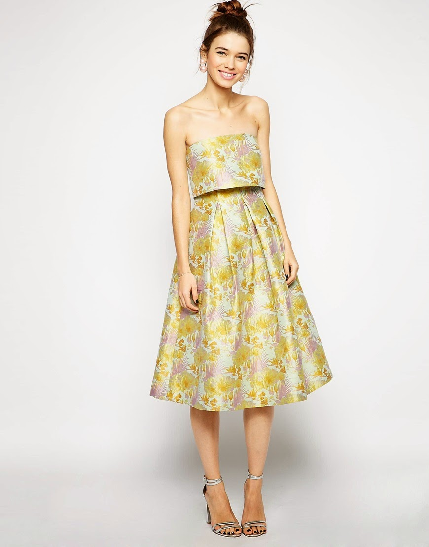 yellow floral prom dress,