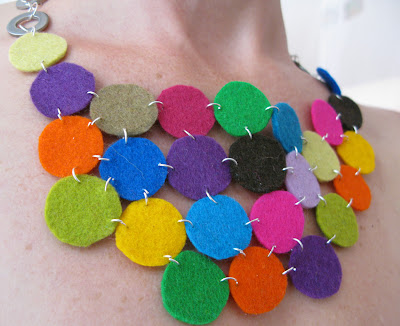 Felt necklace and bracelet