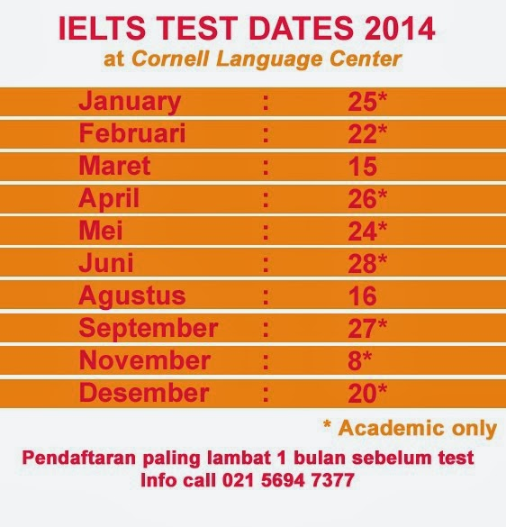 IELTS TEST SCHEDULE