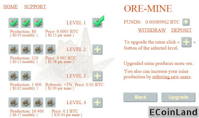 upgrading the mine at ore mine free satoshi game