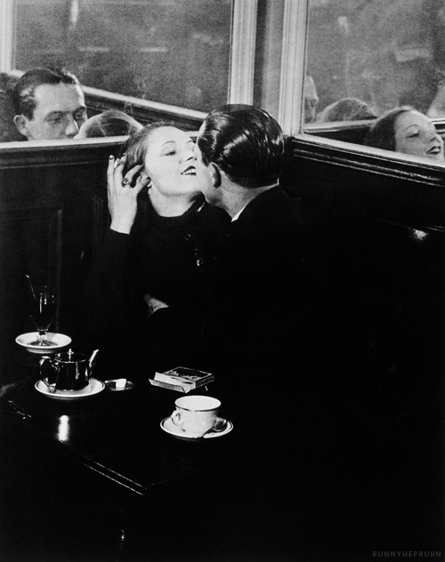 Lovers in a Small Café, 1932 by Brassaï