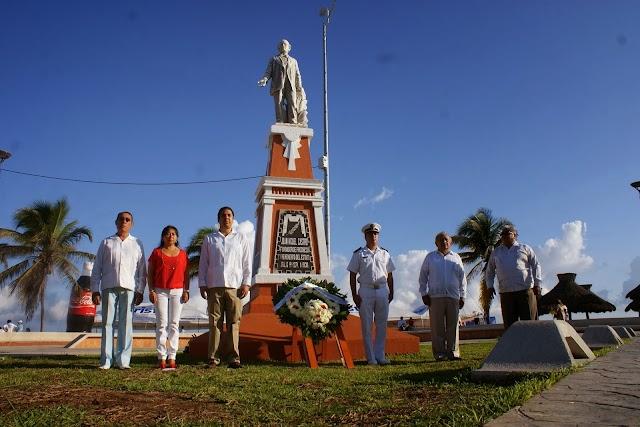 Rinden Homenaje por el natalicio del fundador de la ciudad y puerto de Progreso, Don Juan Miguel Castro