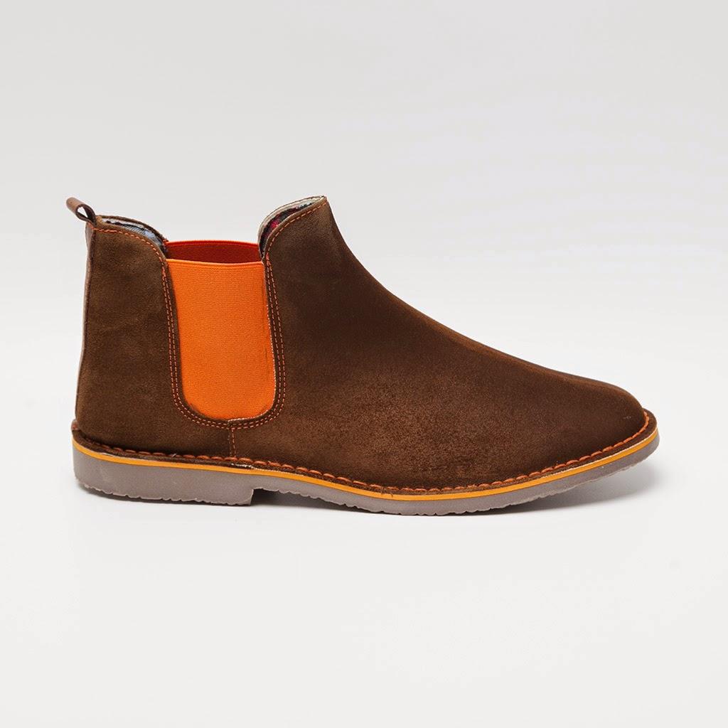 Chelsea boots fluor naranja para hombre de Paco Cecilio