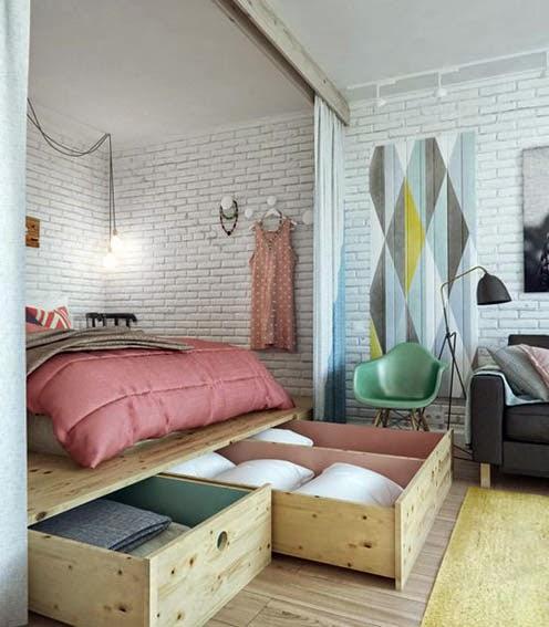 ahorrar espacio, camas