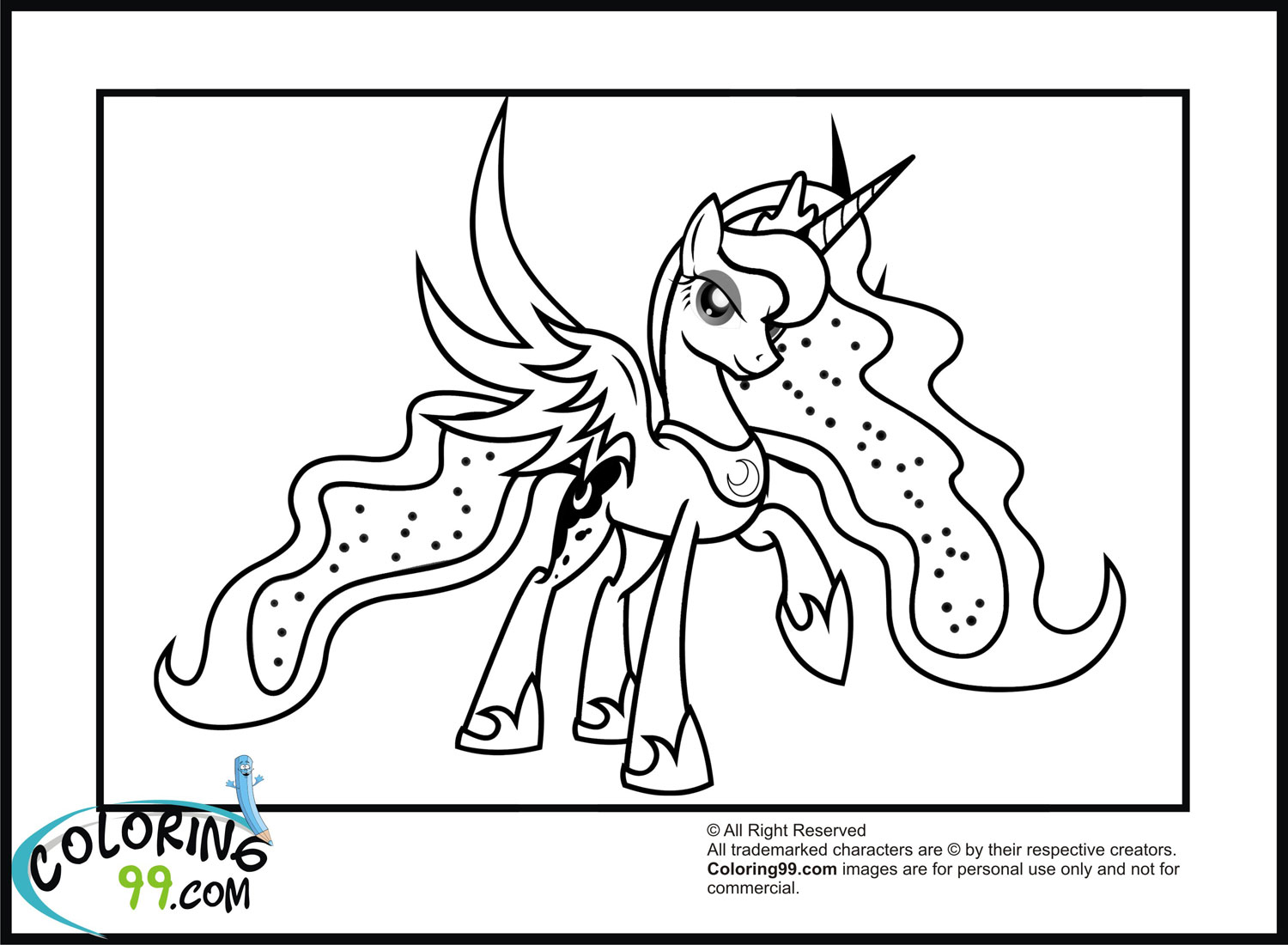 My Little Pony Coloring Pages Princess Luna : Princess luna coloring pages
