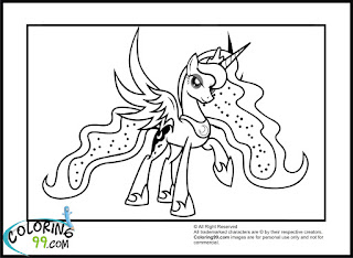 Princess Luna is spreading her wings coloring pages