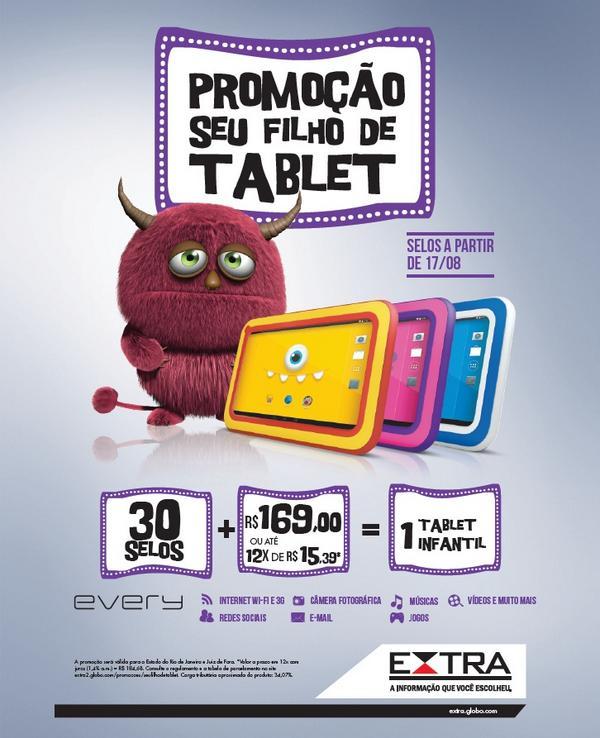 Participar promoção Jornal Extra Seu Filho de Tablet