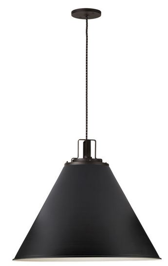 butte cone pendant rejuvenation black accent kitchen lighting modern traditional transitional interior design decorating