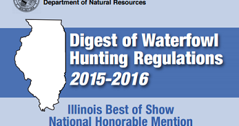 2015 2016 waterfowl digest released rules and for Fishing license illinois