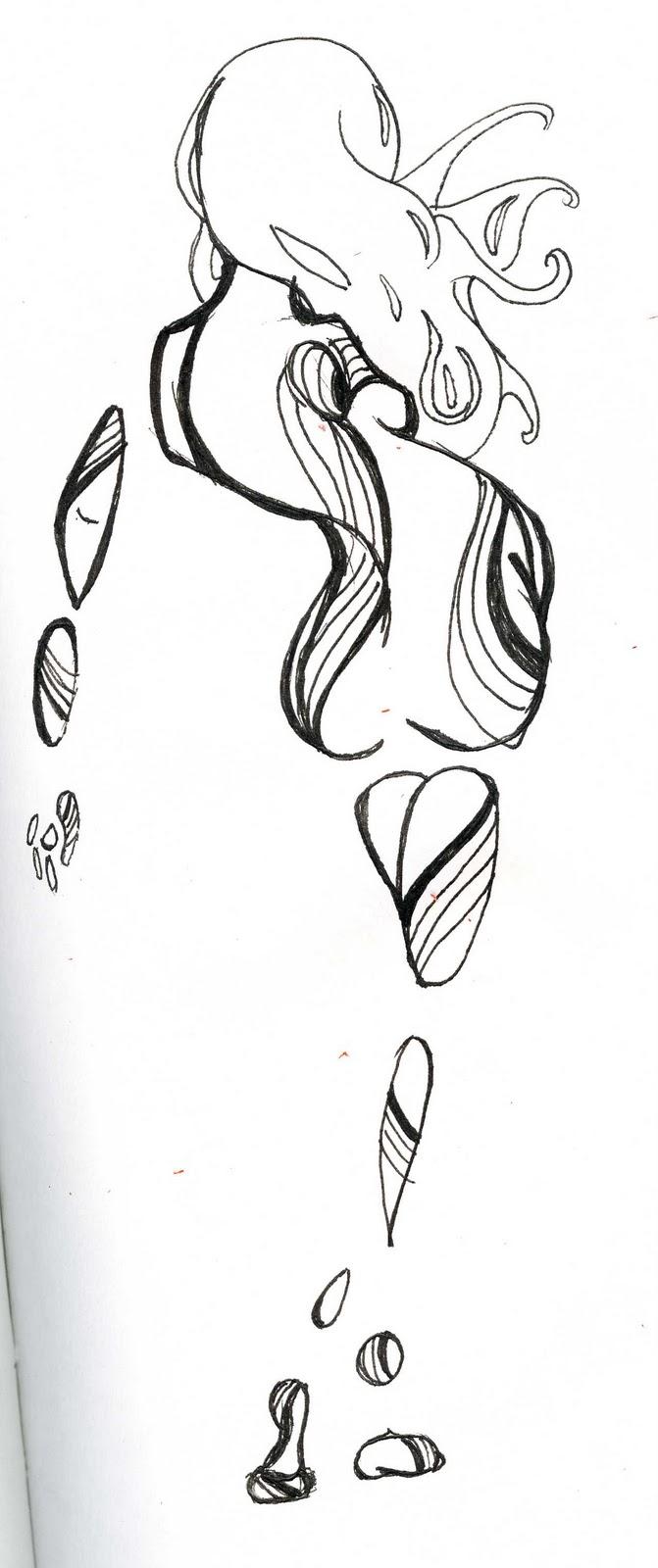 Pin heart doodles on pinterest for Weird drawing ideas
