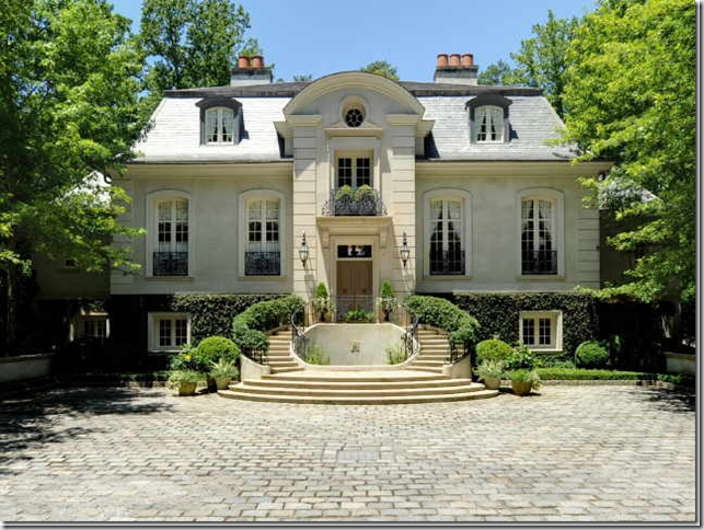 French manor style house pictures