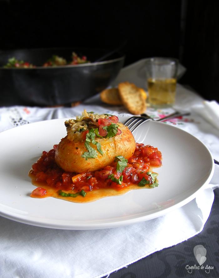 Cocinar verdura en el microondas cocinar en casa es for Cocinar patatas rellenas