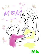 This Mother's Day Image is a silhouette image of a mother carrying her .
