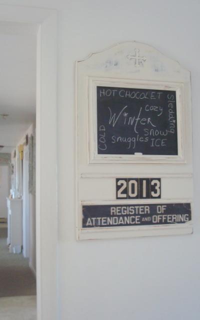Fleur cottage revised church attendance board