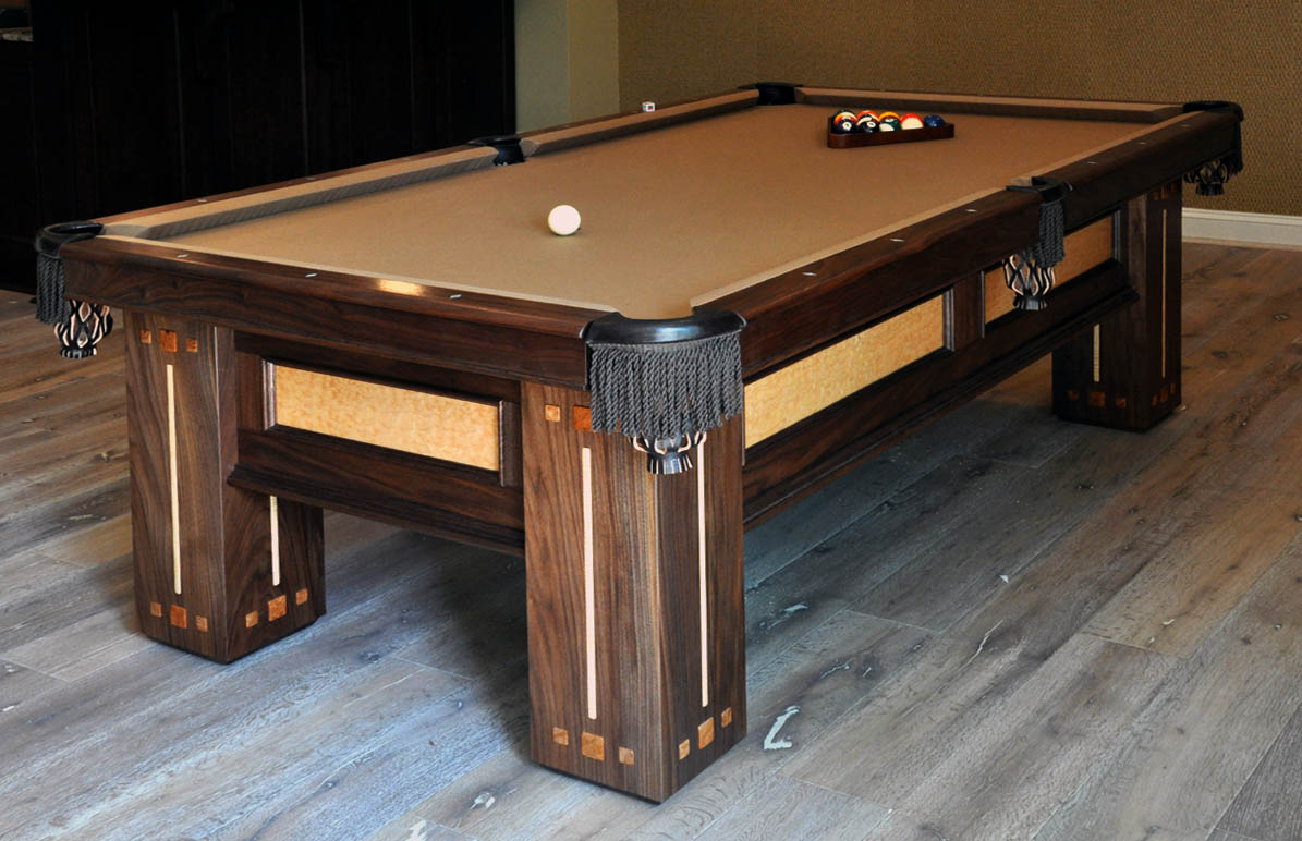 dorset custom furniture a woodworkers photo journal all the pretty pool tables. Black Bedroom Furniture Sets. Home Design Ideas