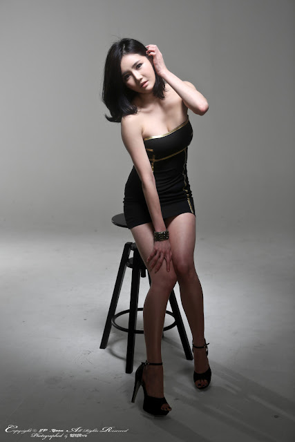Han Ga Eun in Black Mini Dress
